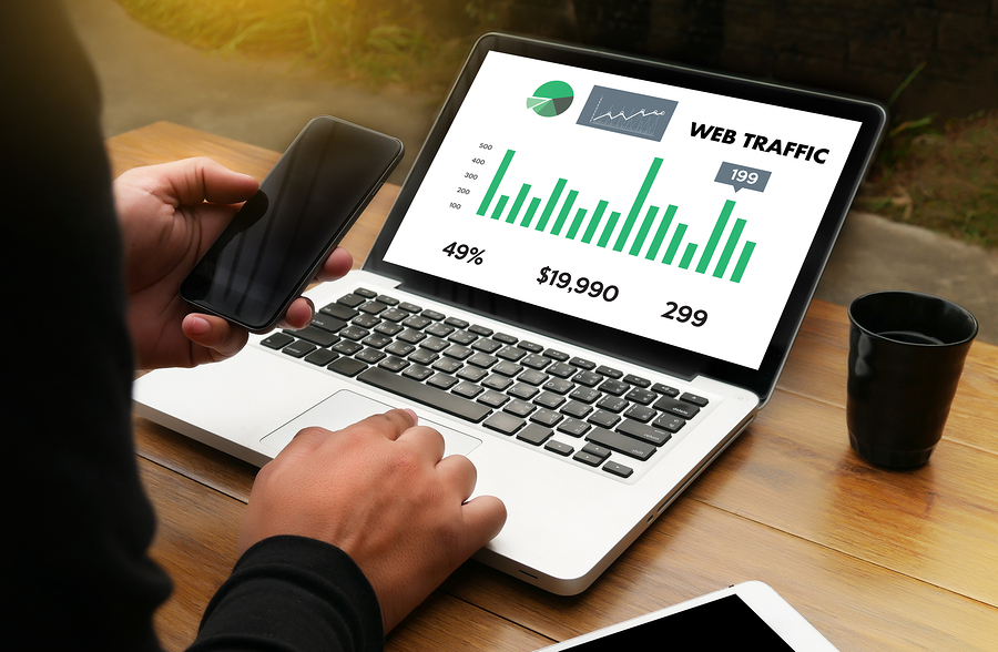 WEB TRAFFIC (business technology internet and networking concept )